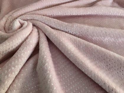 Rozā flīss ar mirdzumu