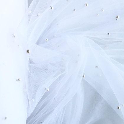 Balts tills ar pērlēm 300cm