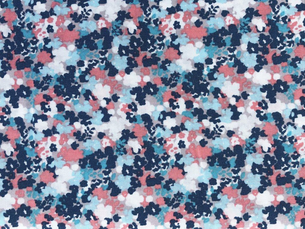 Zilganās puķes, 100% viskoze