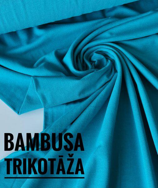 Zili zaļa - bambusa trikotāža