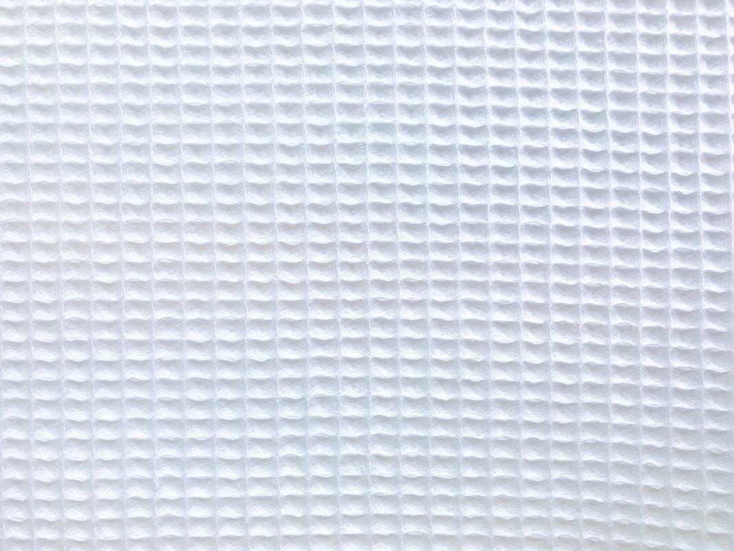 Balts kokvilnas vafeļu audums