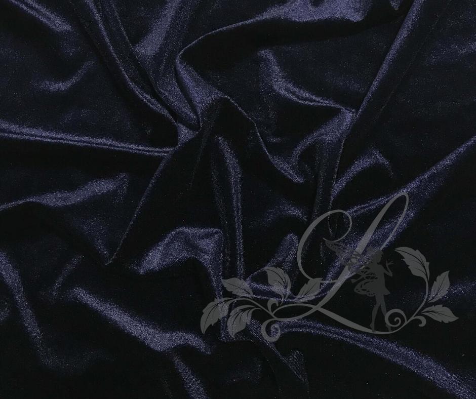 Tumši zils - gludais samts