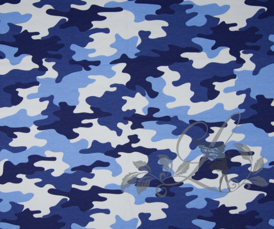 Kamuflāža ar nelielu siltinājumu zila