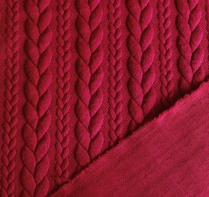 Žakarda pīnes - tumši sarkanas
